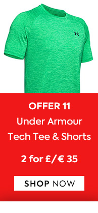 Offer 11  UA Shorts & Tees 2 For £35