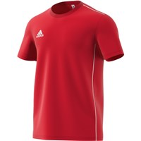 adidas Core 18 Training Tee - Adult - Power Red/White