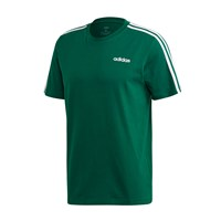 adidas Essentials 3 Stripe Tee - Mens - Green/White