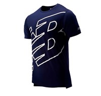 New Balance Accelerate Short Sleeve Running Tee - Mens - Pigment