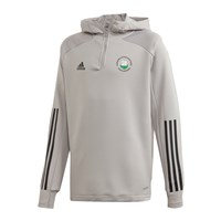 adidas Club Castlehaven GAA Condivo 20 Track Hooded 1/4 Zip Top - Youth - Mid Grey/Black