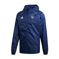 adidas Club Kevins Hurling & Camogie Dublin Core 18 Rain Jacket - Adult - Dark Blue