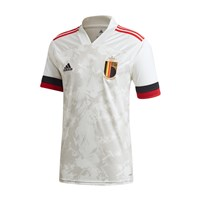 adidas Belgium UEFA Euro 2020 Official Short Sleeve Away Jersey - Adult - Off White