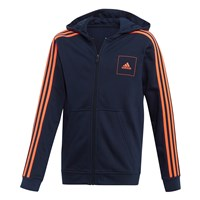 adidas AAC Full Zip Hoodie - Boys - Navy/Solar Red