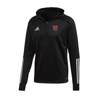 adidas Club Trinity Donaghmede FC Condivo 20 Track Hooded Top - Adult - Black/White