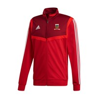 adidas Club Vee Rovers FC Tiro 19 Polyester Jacket - Adult - Red/White