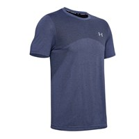 Under Armour Seamless Short Sleeve Training Tee - Mens - Blue Ink/Mod Grey