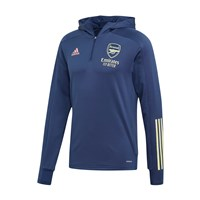 adidas Arsenal FC Official 2020/21 TK Hooded 1/4 Zip Top - Adult - Tech Indigo