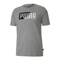 Puma Flock Graphic Short Sleeve Tee - Mens - Medium Grey Heather
