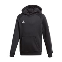 adidas Core 18 Hoodie - Youth - Black/White