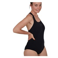 Speedo Essentials Endurance+ Medalist Swimsuit - Womens - Black