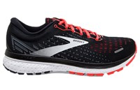 Brooks Ghost 13 Running Shoes - Womens - Black/Ebony/Coral