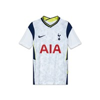 Nike Tottenham Hotspur 2020/21 Official Short Sleeve Stadium Home Jersey - Youth - White/Binary Blue