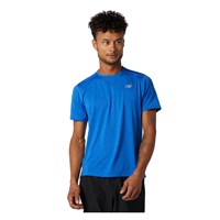 New Balance Impact Short Sleeve Running Tee - Mens - Blue