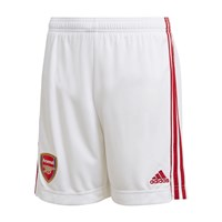 adidas Arsenal FC Official 2020/21 Home Shorts - Youth - White/Active Maroon