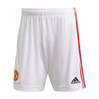 adidas Manchester United FC Official 2020/21 Home Shorts - Adult - White