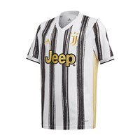 adidas Juventus FC Official 2020/21 Short Sleeve Home Jersey - Youth - White/Black