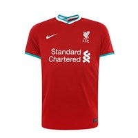 Nike Liverpool FC 2020/21 Official Short Sleeve Stadium Home Jersey - Adult - Gym Red/White