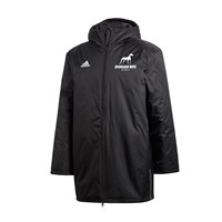 adidas Club Dublin Dogos RFC Core Stadium Jacket - Adult - Black/White