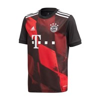 adidas FC Bayern Munich 2020/21 Official Short Sleeve 3rd Jersey - Youth - Black