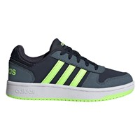 adidas Hoops 2.0 Kids Trainers - Boys - Legend Ink/Green/Legend Blue