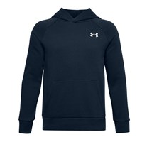 Under Armour Rival Cotton Hoodie - Boys - Academy/Onyx White