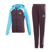 Hooded COT Tracksuit - Girls - Noble Purple/Bright Cyan/White by adidas