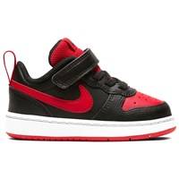 Nike Court Borough Low 2 Infant Trainers - Boys - Black/University Red/White