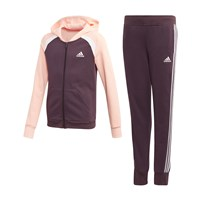 adidas Hooded COT Tracksuit - Girls - Noble Purple/Haz Coral/White