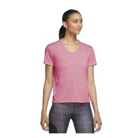 Nike Miler V Neck Running Tee - Womens - Pink Glow/Reflective Silver