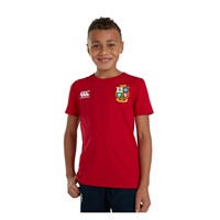 Canterbury British And Irish Lions Rugby 2021 Cotton Jersey Tee - Youth - Tango Red