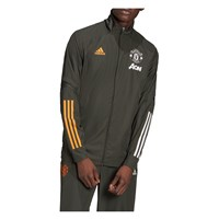 adidas Manchester United FC 2020/21 Presentation Jacket - Mens - Legend Earth