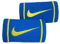 Nike Dri-Fit Doublewide Wristband - Military Blue/Venom