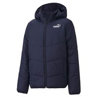 Puma Essentials Padded Hooded Full Zip Jacket - Boys - Peacoat