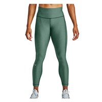 Under Armour Heatgear Armour Hi-Rise Ankle Crop Leggings - Womens - Saxon Green Light Heather/Metallic Silver