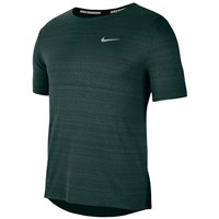 Nike Dri Fit Miler Running Tee - Mens - Pro Green/Reflective Silver