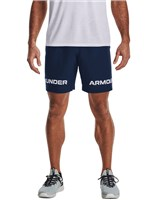 Under Armour Woven Graphic Wordmark Shorts - Mens - Academy/White