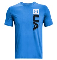 Under Armour Boxed Wordmark Short Sleeve Tee - Mens - Brilliant Blue/Black