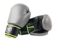 Fitness Mad PVC Sparring Gloves - Green/Grey