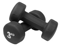 Fitness Mad Pr of 3kg Neo Dumbbells - Black