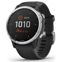 Garmin Fenix 6 Solar GPS Smart Watch - Silver/Black Band