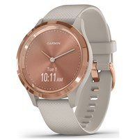 Garmin Vivomove 3S Sport Smart Watch with Silicone Strap - Rose/Tundra