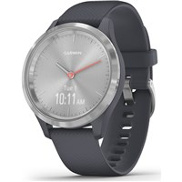 Garmin Vivomove 3S Sport Smart Watch with Silicone Strap - Silver/Blue