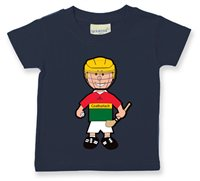 The GAA Store Carlow Baby Mascot Tee - Boys - Hurling - Navy