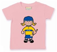 The GAA Store Clare Baby Mascot Tee - Girls - Camogie - Pale Pink