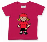 The GAA Store Down Baby Mascot Tee - Girls - Camogie - Fuchsia