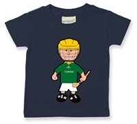 The GAA Store Leitrim Baby Mascot Tee - Boys - Hurling - Navy