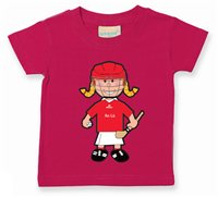 The GAA Store Louth Baby Mascot Tee - Girls - Camogie - Fuchsia