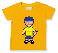 The GAA Store Roscommon Baby Mascot Tee - Boys - Hurling - Yellow