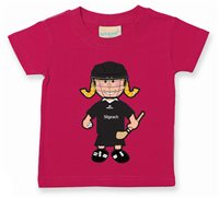 The GAA Store Sligo Baby Mascot Tee - Girls - Camogie - Fuchsia